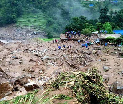 पहिरोमा परि मृत्यु भएका ९ जनाको सामूहिक दाहासंस्कार गरियो