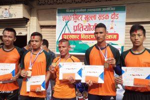 राईनो क्लब नारायणगढ द्धारा आयोजित ५ किलो मिटर दौडमा नेपाल प्रहरीका योगी प्रथम